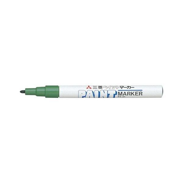 【まとめ買い10個セット品】 ペイントマーカー   細字丸芯(0.8〜1.2mm) PX−21.6  緑