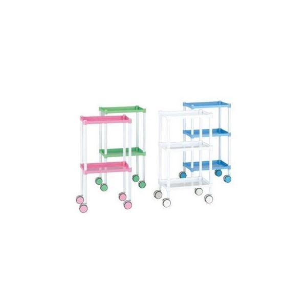 【まとめ買い10個セット品】 カラーラウンドカート 3段タイプ スカイブルー CR3AN-SB【 カート・台車 】