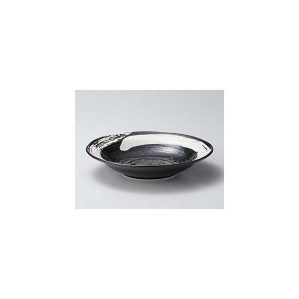 【まとめ買い10個セット品】カ670-047 極刷毛黒8.0寸つけ麺皿【キャンセル/返品不可】
