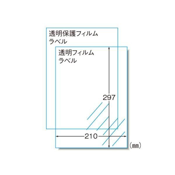 手作りステッカー(インクジェット) A4判 透明タイプ  28873