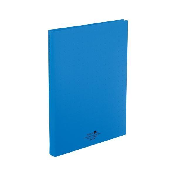 AQUA DROPs 名刺帳 ポケット交換タイプ  A4判タテ型・30穴(ヨコ入れタイプ)  A−5043−8 青