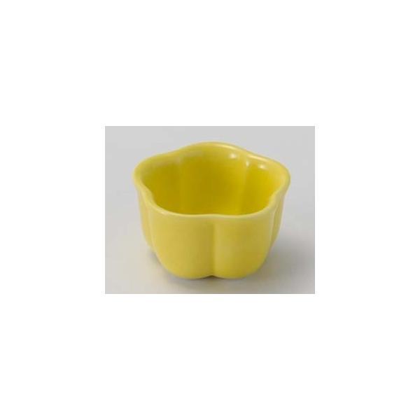 和食器 カ085-427 黄釉梅型珍味(小)