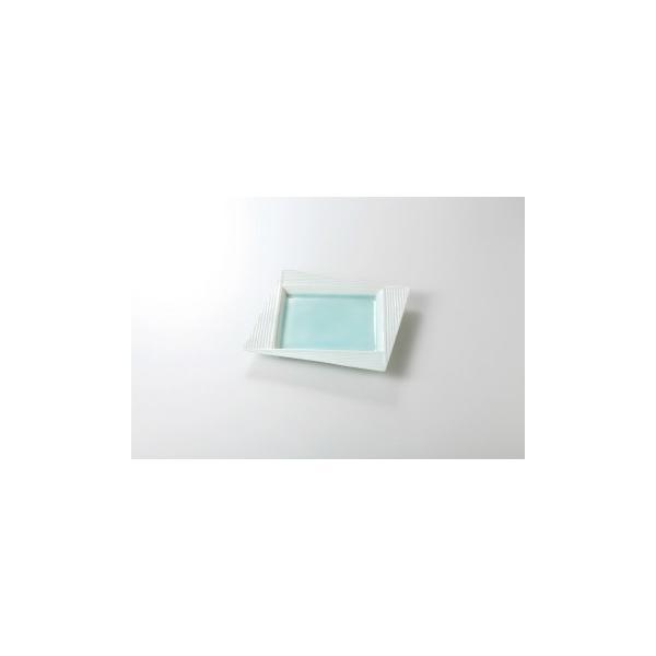 和食器 青白磁 スクエアプレート19cm 36H127-04 まごころ第36集 【キャンセル/返品不可】