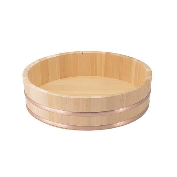 飯台(すし桶)さわら材 (銅タガ) 《外寸》 72cm