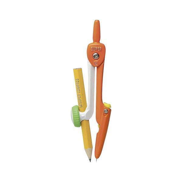 【まとめ買い10個セット品】 スーパーコンパス はりinパス  鉛筆用  SK−654−OR 橙
