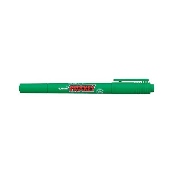 【まとめ買い10個セット品】 ユニ プロッキー  極細/細字丸芯(0.4mm・0.9mm)  PM−120T.6  緑