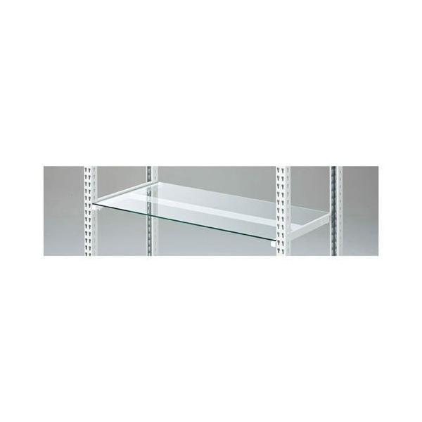 ストレージシェルフ ガラス棚セット ホワイト W90cmタイプ