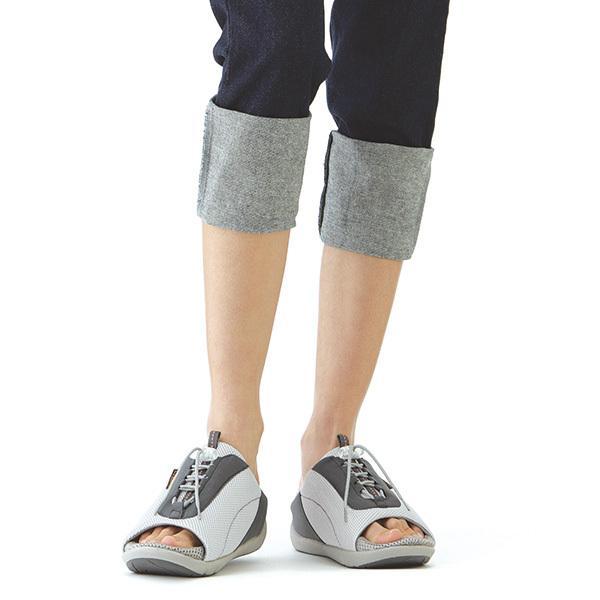 ダイエットサンダル オフィス 健康 レディース 室内 外反母趾 骨盤 アーチケア 美脚 姿勢矯正 猫背 4E 幅広 ワイド 勝野式 Dr.ドクターアーチスニーカー|meidai-y|17