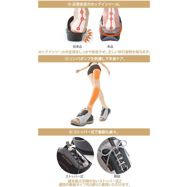 ダイエットサンダル オフィス 健康 レディース 室内 外反母趾 骨盤 アーチケア 美脚 姿勢矯正 猫背 4E 幅広 ワイド 勝野式 Dr.ドクターアーチスニーカー|meidai-y|04