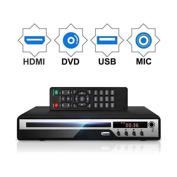 DVDプレーヤーMic対応1080PサポートDVD/CD 生専用モデルHDMI端子搭載CPRM対応USBAV/HDMIケーブルが