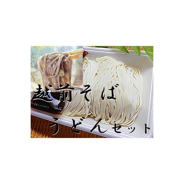 越前そば 2食 うどん 2食 計 4食分セット 生うどん 冷凍 麺つゆ付 冷凍生うどん 生 うどん 越前そば 越前蕎麦 生そば 越前 そば
