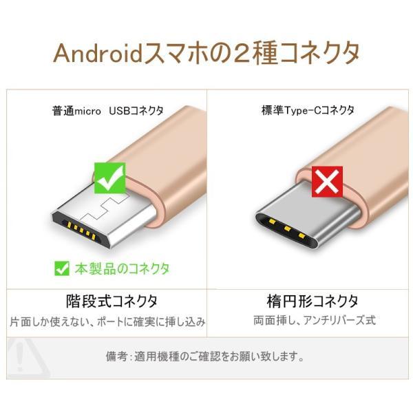 micro USBケーブル マイクロUSB Android用 0.25/0.5/1/1.5m 急速充電ケーブル  モバイルバッテリー ケーブル スマホ充電器 Xperia Galaxy AQUOS 多機種対応 meiseishop 16