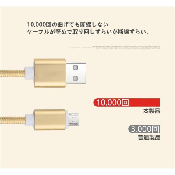 micro USBケーブル マイクロUSB Android用 0.25/0.5/1/1.5m 急速充電ケーブル  モバイルバッテリー ケーブル スマホ充電器 Xperia Galaxy AQUOS 多機種対応|meiseishop|08