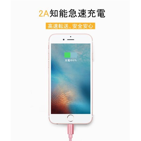 iPhoneケーブル 長さ 0.25m 0.5m 1m 1.5m 急速充電 充電器 データ転送ケーブル USBケーブル iPad iPhone用 充電ケーブル XS Max XR X 8 7 6s/6/PLUS 3か月保証|meiseishop|19