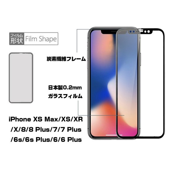 iPhone XS Max iPhone XR iPhone XS 強化ガラス保護フィルム 曲面 0.2mm ソフトフレーム 3D 全面保護 iPhone X/8plus/8/7plus/7/6s/6s plus 液晶保護フィルム|meiseishop|05