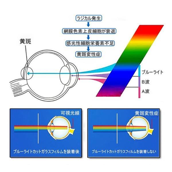 iPhone XR iPhone XS iPhone XS MAX強化ガラスフィルム ブルーライトカット 3D 曲面 0.2mm iPhoneX/8plus/8/7plus/7/6s/6 plus全面ガラスフィルムソフトフレーム|meiseishop|02