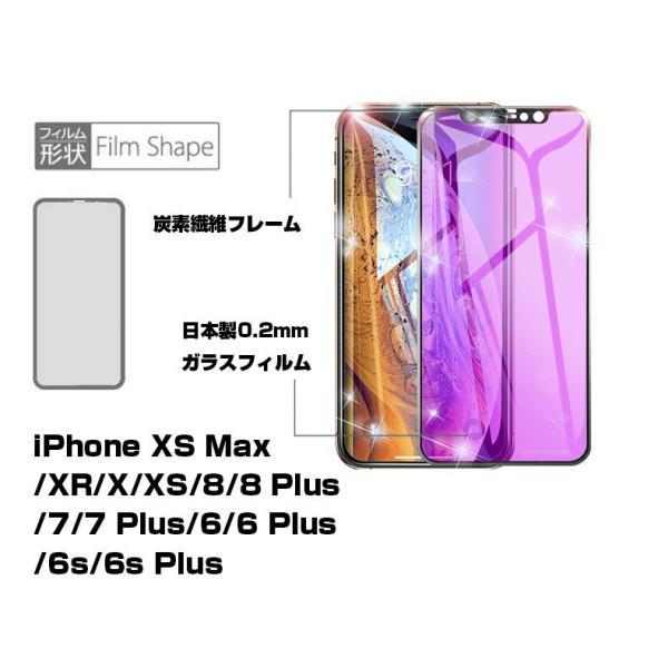 iPhone 11 Pro Max iPhone XS Max iPhone XR 3D ブルーライトカット 強化ガラス保護フィルム ソフトフレーム iPhone XS/X/8plus/8/7plus/7/6s/6s plus|meiseishop|07