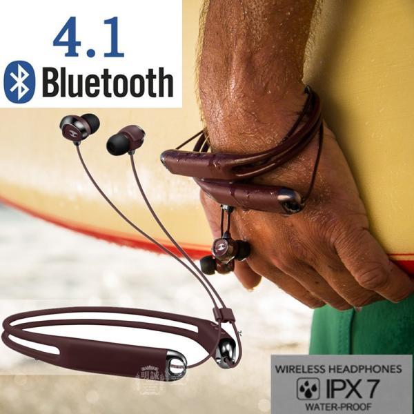 ブルートゥースイヤホン Bluetooth 4.1 イヤホン IP67 防水 スポーツ ネックバンド  首掛け 高音質ワイヤレスイヤホン 無線 マイク付き ランニング ヘッドセット