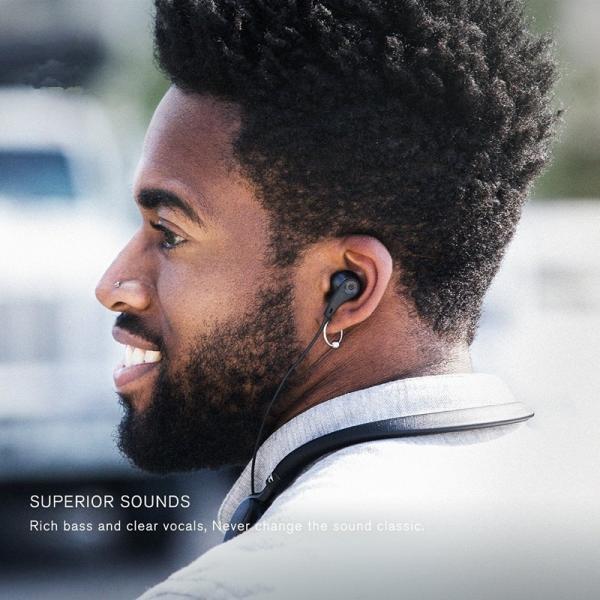 ワイヤレス ノイズキャンセリング イヤホン 高音質 Bluetooth ブルートゥース イヤホン ネックバンド式 マイク付き ハンズフリー通話 最大20時間連続再生 iPhone|meiseishop|11