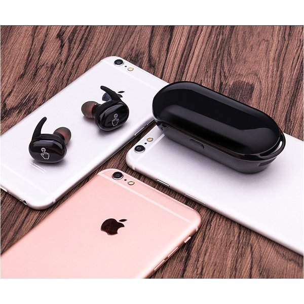 ブルートゥースイヤホン ワイヤレスイヤホン スポーツ スマホ対応 軽量 充電式収納ケース 高音質 ミニ 防水 無線通話 Bluetooth4.1 運動イヤフォン 【タッチ型】|meiseishop|18