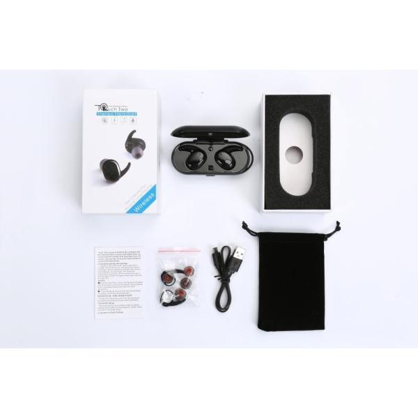 ブルートゥースイヤホン ワイヤレスイヤホン スポーツ スマホ対応 軽量 充電式収納ケース 高音質 ミニ 防水 無線通話 Bluetooth4.1 運動イヤフォン 【タッチ型】|meiseishop|07