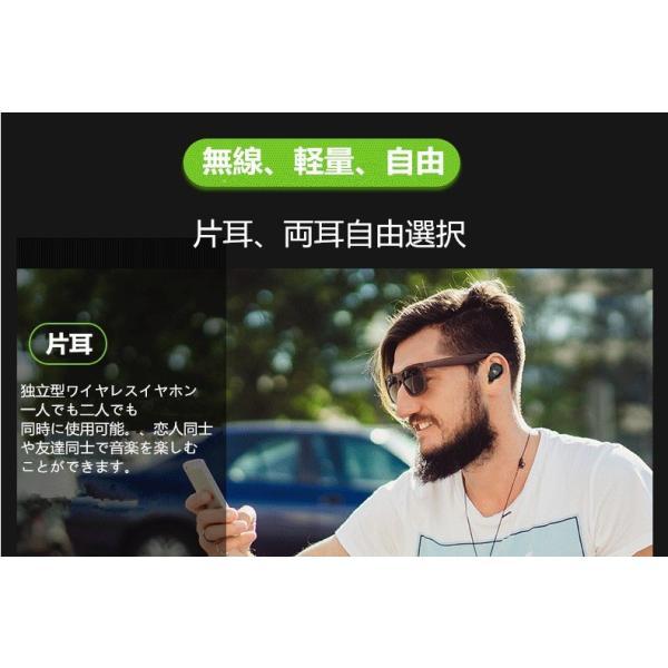 ブルートゥースイヤホン ワイヤレスイヤホン スポーツ スマホ対応 軽量 充電式収納ケース 高音質 ミニ 防水 無線通話 Bluetooth4.1 運動イヤフォン 【タッチ型】|meiseishop|10