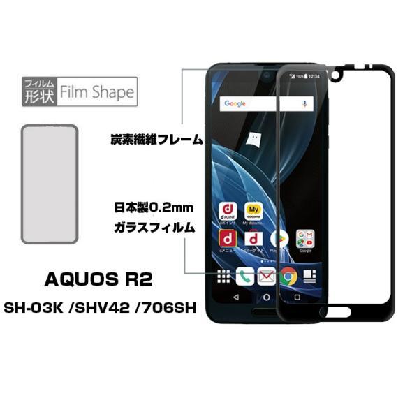 AQUOS R2 SH-03K SHV42 706SH 全面保護ガラスフィルム AQUOS R2 SHV42 強化ガラス保護フィルム AQUOS R2 SH-03K ガラスフィルム AQUOS R2 706SH ソフトフレーム|meiseishop|04