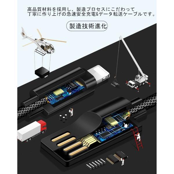 超小型 ストラップ式 充電ケーブル iPhoneケーブル Type-Cケーブル Micro USBケーブル 急速充電 データ転送ケーブル 合金ケーブル iPhone用 Android用 長さ0.18m|meiseishop|11