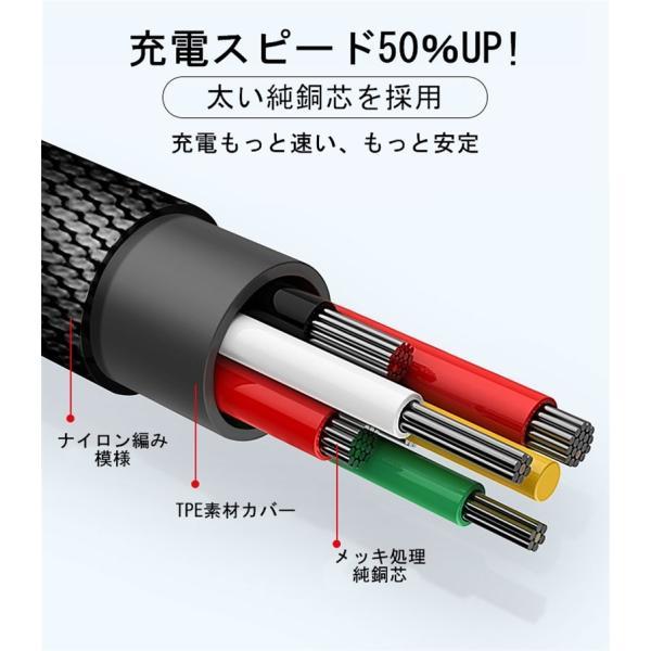 超小型 ストラップ式 充電ケーブル iPhoneケーブル Type-Cケーブル Micro USBケーブル 急速充電 データ転送ケーブル 合金ケーブル iPhone用 Android用 長さ0.18m|meiseishop|14