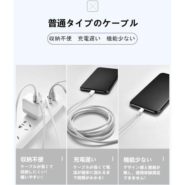 超小型 ストラップ式 充電ケーブル iPhoneケーブル Type-Cケーブル Micro USBケーブル 急速充電 データ転送ケーブル 合金ケーブル iPhone用 Android用 長さ0.18m|meiseishop|08