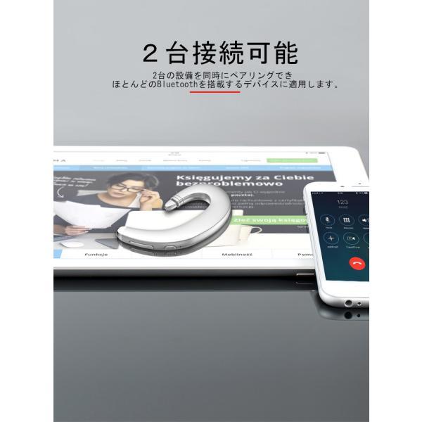 Bluetooth 4.1 ワイヤレスイヤホン ヘッドセット 片耳 高音質 耳掛け型 ブルートゥースイヤホン スポーツ 日本語音声通知通話可 マイク内蔵 iPhone&Android対応|meiseishop|04