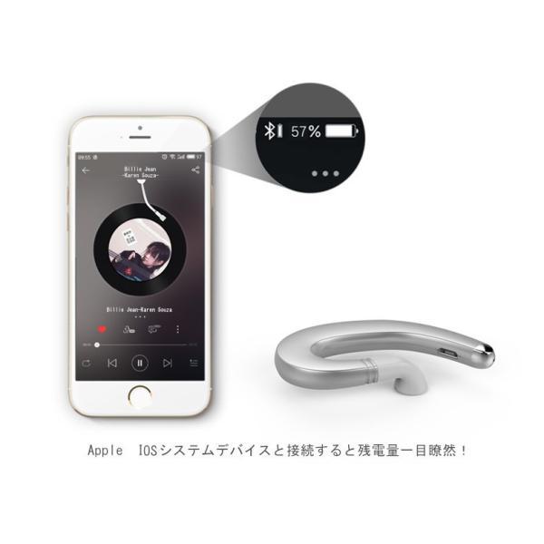 ブルートゥースイヤホン ワイヤレスイヤホン Bluetooth 4.1 ヘッドセット 片耳 高音質 耳掛け型 日本語音声通知 スポーツ マイク内蔵通話可 iPhone&Android対応 meiseishop 17
