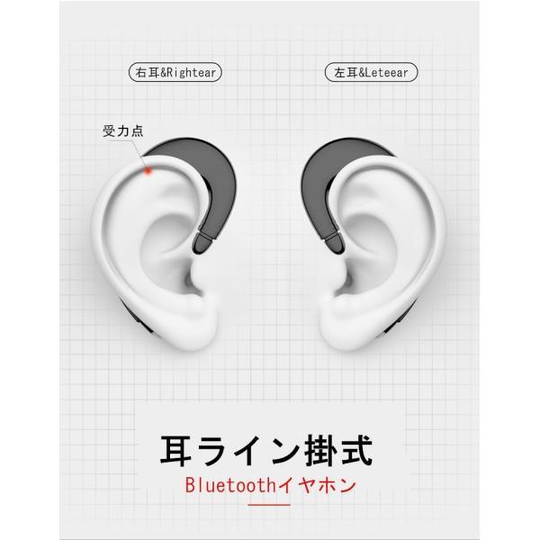 ブルートゥースイヤホン ワイヤレスイヤホン Bluetooth 4.1 ヘッドセット 片耳 高音質 耳掛け型 日本語音声通知 スポーツ マイク内蔵通話可 iPhone&Android対応 meiseishop 09