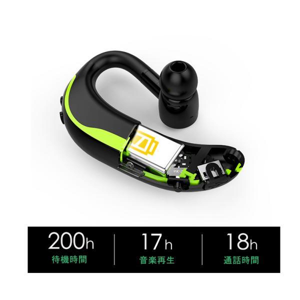 ブルートゥースイヤホン Bluetooth 4.1 ワイヤレスイヤホン 耳掛け型 ヘッドセット 片耳 最高音質 マイク内蔵 日本語音声通知 180°回転 超長待機 左右耳兼用|meiseishop|16