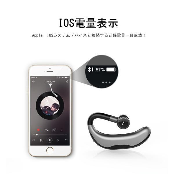 ブルートゥースイヤホン Bluetooth 4.1 ワイヤレスイヤホン 耳掛け型 ヘッドセット 片耳 最高音質 マイク内蔵 日本語音声通知 180°回転 超長待機 左右耳兼用|meiseishop|18