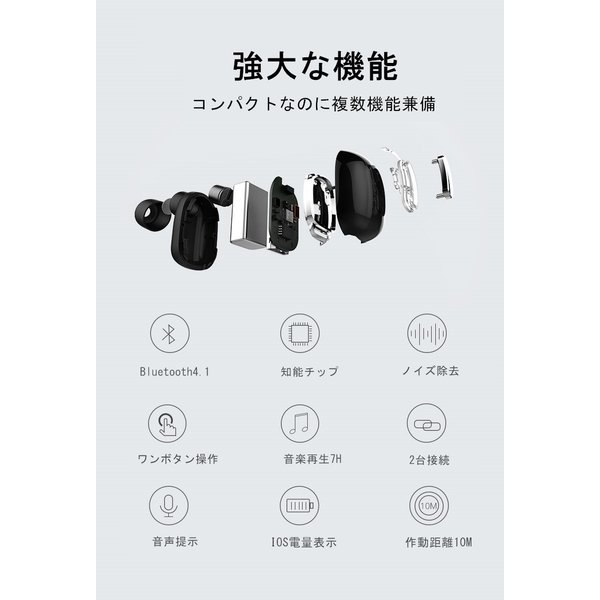 Bluetooth 4.1 超小型 ブルートゥースイヤホン ワイヤレスイヤホン 片耳 ヘッドセット 高音質 ハンズフリー通話 超小型 マイク内蔵無線通話 ハイレゾ級高音質|meiseishop|11