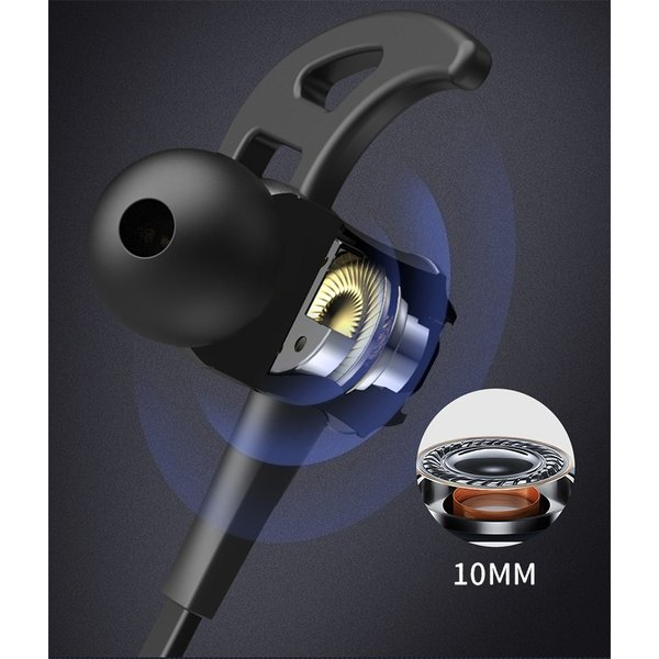 ワイヤレスイヤホン 高音質 ブルートゥースイヤホン Bluetooth 4.2 ヘッドセット マイク内蔵 ハンズフリー 超長待機 IPX6防水 ネックバンド式 8時間連続再生|meiseishop|12