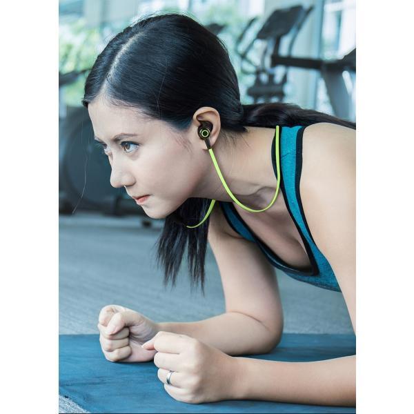 ワイヤレスイヤホン 高音質 ブルートゥースイヤホン Bluetooth 4.2 ヘッドセット マイク内蔵 ハンズフリー 超長待機 IPX6防水 ネックバンド式 8時間連続再生|meiseishop|16