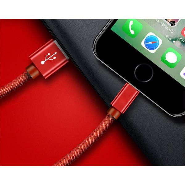 iPhoneケーブル iPad用 長さ3m 急速充電ケーブル デニム生地 収納ベルト付き モバイルバッテリー 充電器 データ転送 USBケーブル iPhone8 Plus iPhoneX iPhone用|meiseishop|18