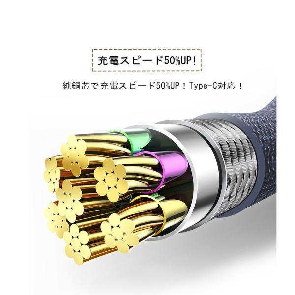 USB Type-Cケーブル Type-C 充電器 高速充電 長さ0.25/0.5/1/1.5m デニム生地 収納ベルト付き データ転送ケーブル Android Galaxy Xperia AQUOS HUAWEIケーブル|meiseishop|05