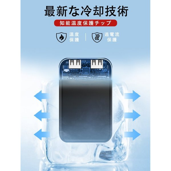 6800mAh モバイルバッテリー 大容量 超小型 ミニ型 超薄型 軽量 最小最軽最薄 急速充電 USB2ポート 楽々収納 携帯充電器 コンパクト スマホ充電器【PL保険】|meiseishop|16