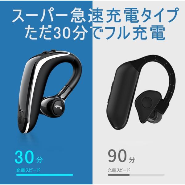 ブルートゥースヘッドホン ワイヤレスイヤホン Bluetooth 5.0 耳掛け型 ヘッドセット 左右耳通用 最高音質 無痛装着 180°回転 超長待機 マイク内蔵 送料無料 meiseishop 14