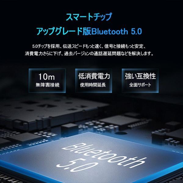 ワイヤレスイヤホン ブルートゥース イヤホン Bluetooth5.0 IPX7防水 日本語音声案内 3500mAh大容量充電ケース 左右分離型 ノイズキャンセリング iPhone Android|meiseishop|05