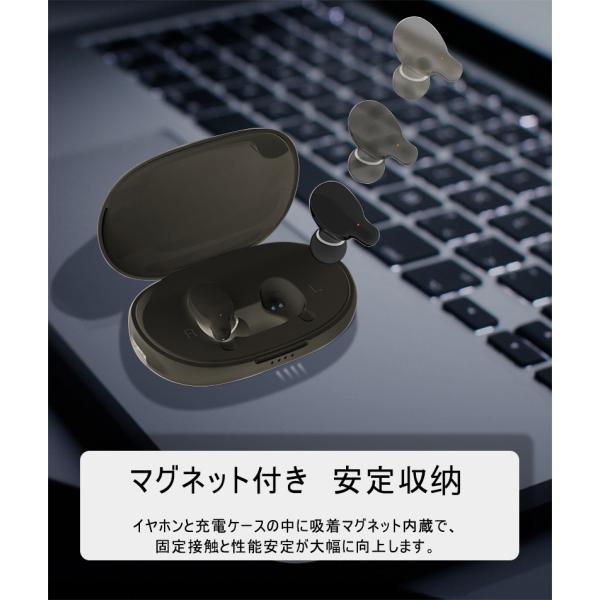 ワイヤレスイヤホン Bluetooth 5.0 完全ワイヤレス ヘッドセット Hi-Fi 高音質 自動ON/OFF 自動ペアリング マイク付き マグネット ミニ 軽量 PSE認証済み|meiseishop|18