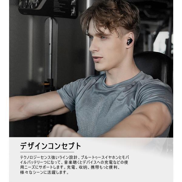 ワイヤレスイヤホン Bluetooth 5.0 完全ワイヤレス ヘッドセット Hi-Fi 高音質 自動ON/OFF 自動ペアリング マイク付き マグネット ミニ 軽量 PSE認証済み|meiseishop|06