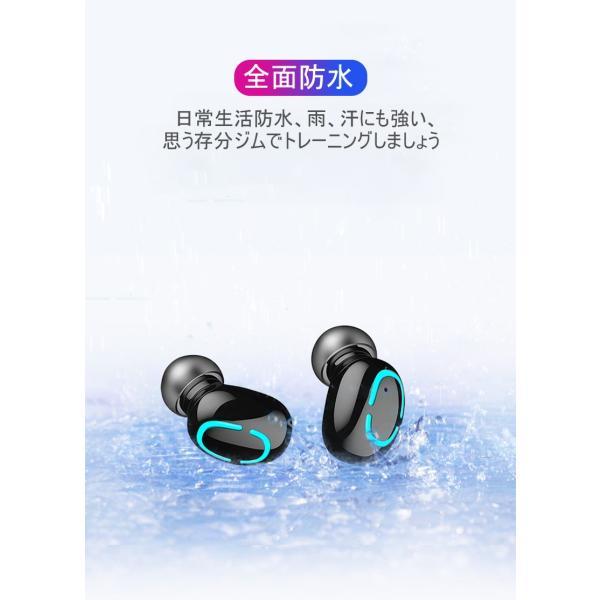 ワイヤレスヘッドセット Bluetooth5.0 イヤホン ワイヤレスイヤホン 日本語音声案内 2200mAh充電ケース 防水 自動ペアリング 両耳 左右分離型 ノイキャン TWS|meiseishop|12