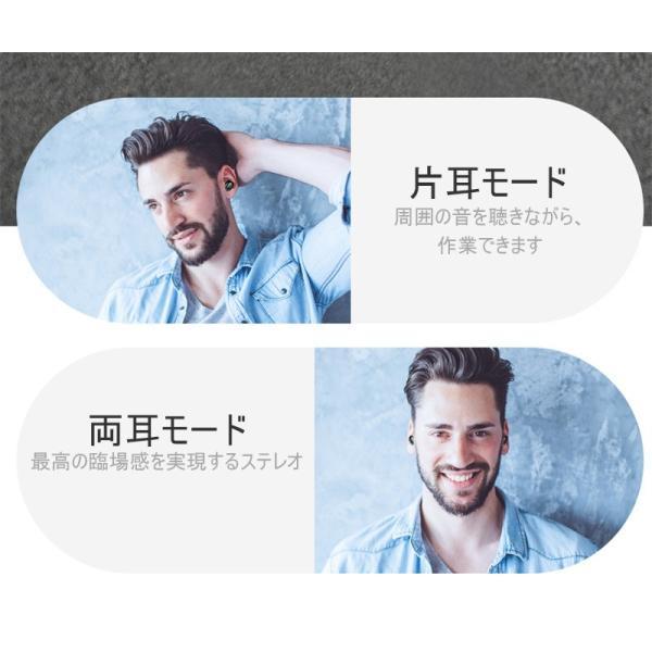 ワイヤレスヘッドセット Bluetooth5.0 イヤホン ワイヤレスイヤホン 日本語音声案内 2200mAh充電ケース 防水 自動ペアリング 両耳 左右分離型 ノイキャン TWS|meiseishop|15