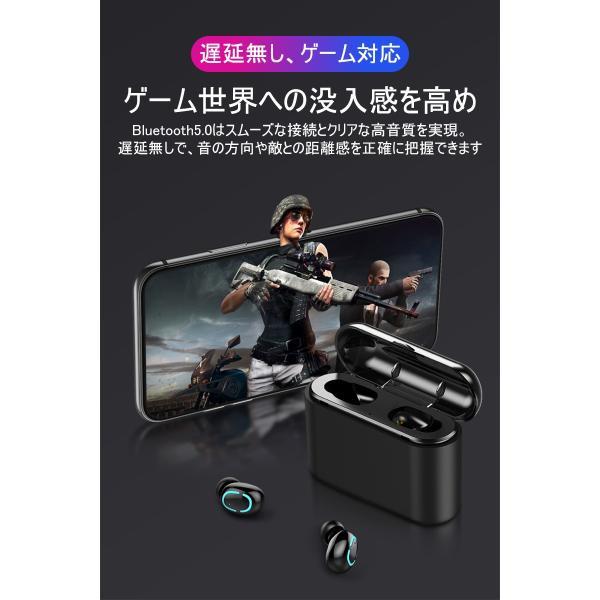 ワイヤレスヘッドセット Bluetooth5.0 イヤホン ワイヤレスイヤホン 日本語音声案内 2200mAh充電ケース 防水 自動ペアリング 両耳 左右分離型 ノイキャン TWS|meiseishop|16