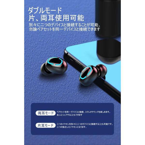 ワイヤレスヘッドセット Bluetooth5.0 イヤホン ワイヤレスイヤホン 日本語音声案内 2200mAh充電ケース 防水 自動ペアリング 両耳 左右分離型 ノイキャン TWS|meiseishop|18