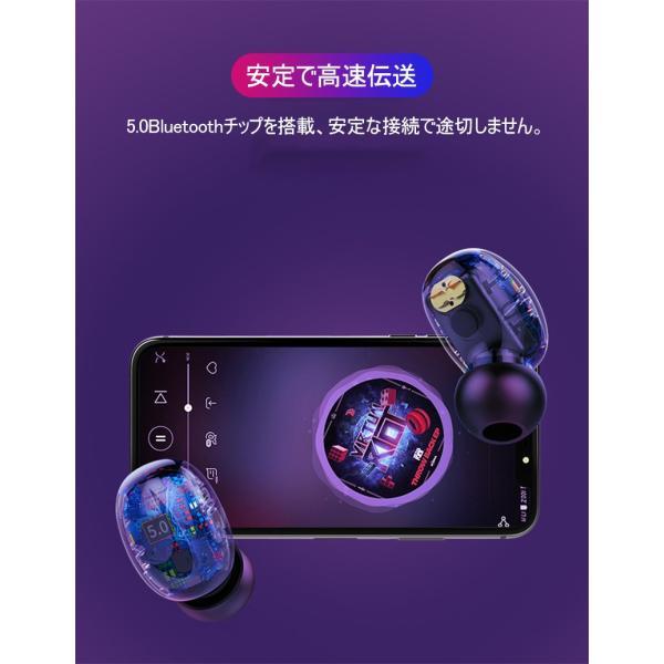 ワイヤレスヘッドセット Bluetooth5.0 イヤホン ワイヤレスイヤホン 日本語音声案内 2200mAh充電ケース 防水 自動ペアリング 両耳 左右分離型 ノイキャン TWS|meiseishop|04